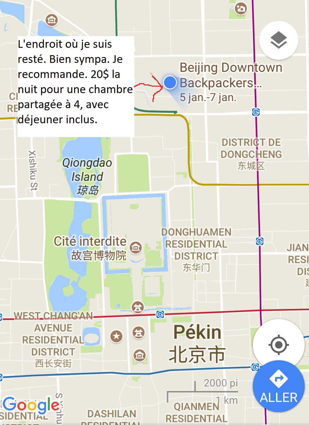 Réflexions aléatoires et rencontres à Beijing